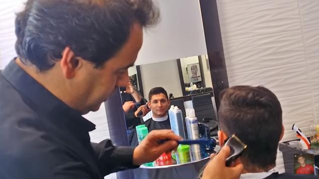 クリスティアーノ・ロナウド選手の髪型のセット法